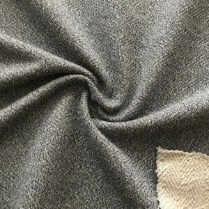 Футер 3х нитка б/н Мулине Елочка 70хб-к/30пэ 420гр 180см текстиль Черный натур