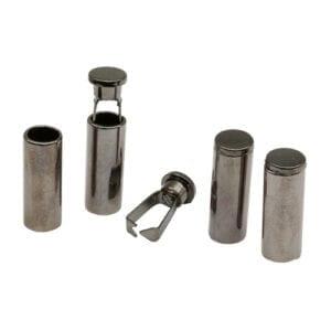 Наконечник для шнура 12*5.5 мм металл Никель Черный