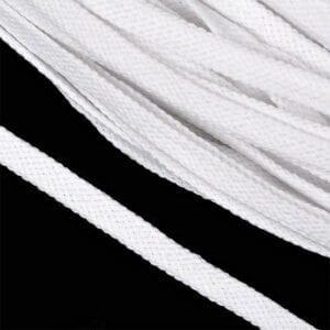 Шнур плоский 15мм Белый, 145