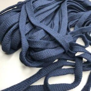 Шнур плоский 15мм Темно-синий, 145